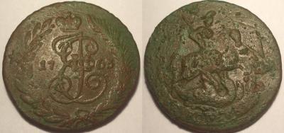 2 копейки 1763 без знаков  перечекан.JPG