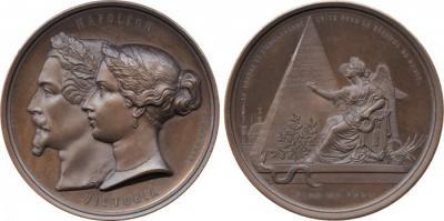 Крымская война союз Франции и Великобритании оспаривать влияние России в Османской империи, бронзовая медаль, 1854.jpg
