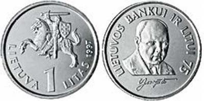 1 лит (1997) к 75-летию Литовского банка и лита..jpg