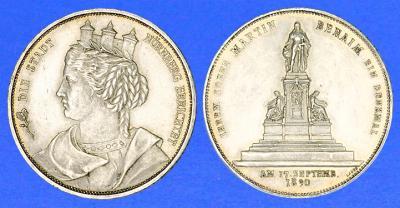 СЕРЕБРЯНАЯ МЕДАЛЬ 1890 года открытие памятника  в Нюрнберге Martin Behaim.jpg