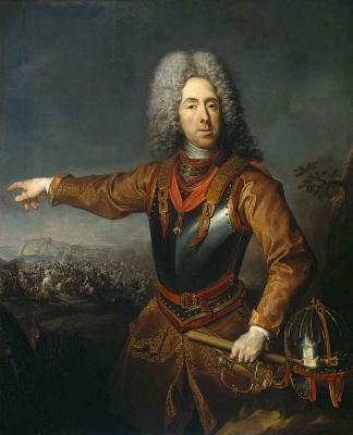 Он же на фоне битвы при Белграде (1717).jpg