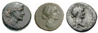 2 ноября 69 до н. э.Портреты Клеопатры VII на монетах.jpg