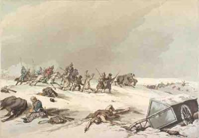 10 Казаки нападают на отступающих французов. Рисунок 1813 г..jpg