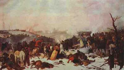 13 Петер Гесс, Сражение при Лосьмине. 6 ноября, 1812 г. (прорыв Нея).jpg