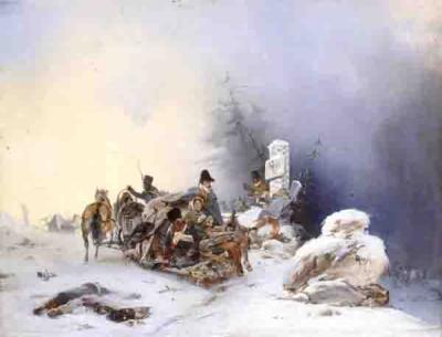 14 Бегство французов с семьями из России. Виллевальде Б.П., 1846 г..jpg