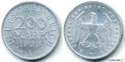 Германия  Веймарская республика  200 марок.jpg