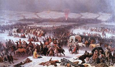 Переправа войск Наполеона через Березину. Януарий Суходольский.jpg