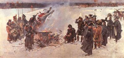 Сожжение знамен часть панорамы Войцеха Коссак..jpg