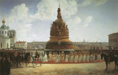 Виллевальде Б. Открытие памятника Тысячелетие России в Новгороде в 1862 г..jpg