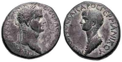 Монета с изображением Клавдия, и его наследника — Нерона, ок. 50 г..jpg