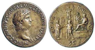 Нерон раздает блага гражданам, монета 64-68 г..jpg