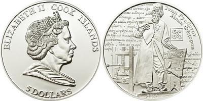 5 долларов 2010 - Иван Федоров - 20 г серебра 0,925 Proof.jpg