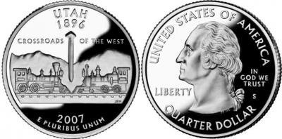 31 января 1896 года — Юта стала 45-м штатом США...jpg