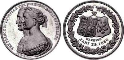 25 января 1858 года. Брак  Виктория Саксен-Кобург-Готская.jpg