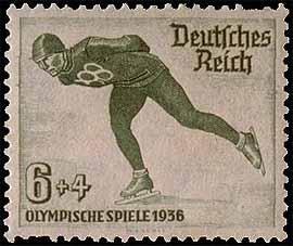 06.02.1936 (почтовая марка, В Гармиш-Партенкирхене (Германия) состоялось открытие IV зимних Олимпийских игр).jpg