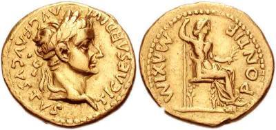 17 сентября 14 — Тиберий Клавдий Нерон принимает титул императора и имя Тиберий Цезарь Август.jpg
