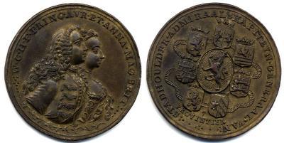 25 марта 1734 г.принц Вильгельм IV (статхаудер с 1747)  взял в жены Анну.jpg