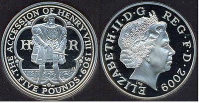 22 апреля 1509 Генрих VIII Тюдор (англ. Henry VIII, 1491—1547) — король Англии).jpg