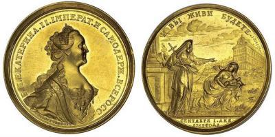 2 мая 1764 года — По приказу Екатерины II на Москворецкой набережной был заложен Воспитательный дом «приема и призрения подкидышей и бесприютных детей».jpg
