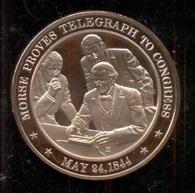 24 мая 1844 года Морзе показывает Телеграф в Конгрессе.jpg
