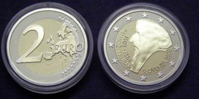 9 июня 1508 года. Приможа Трубар Словения 2 евро.JPG