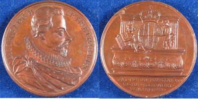 19 июня 1566 года родился — Яков I (король Англии).посмертная медаль.jpg