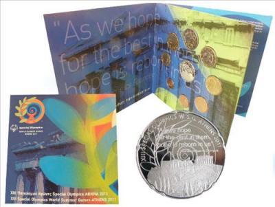 нумизматический набор, содержащий 7 монет регулярного выпуска + памятную монету Акрополь.jpg
