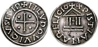 20 июня 840 года умер — Людовик I Благочестивый Денье Людовика Благочестивого..jpg