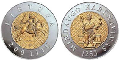 29 июня 1253 Юбилейная монета в память 750-летия коронации Миндовга.jpg