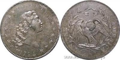 6 июля 1785 -  Конгресс США постановил назвать американскую валюту «долларом».jpg