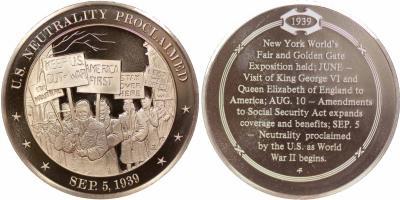 5 сентября 1939 года  — Рузвельт подписал прокламацию о нейтралитете США в войне.JPG