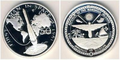 marshall islands_1989_Первый полет человека в космос в 1961 году.JPG