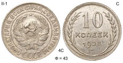 10 копеек 1928 II-1 С Ф=43.jpg