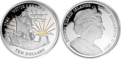 Виргинские о-ва 10 долларов 2011 Витус Беринг..jpg