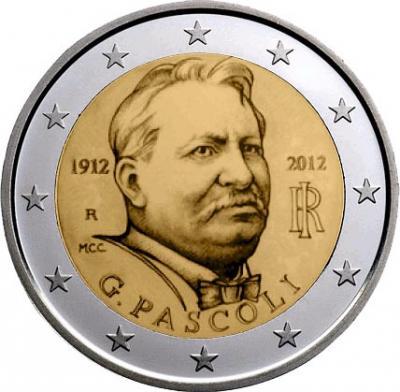 31 декабря 1855 года родился Джованни Пасколи (2 евро).jpg.jpg