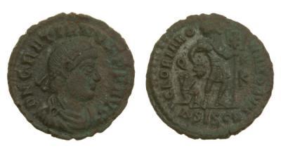 Римская империя, Грациан, 367-383 годы, нуммий.jpg