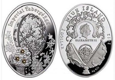 NIUE 1 доллар 2012 Зимнее (яйцо Фаберже).jpg
