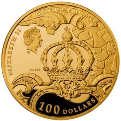 100 $ AMBER ROOM BERNSTEINZIMMER MYSTERIES OF HISTORY NIUE ISLAND 2012..jpg