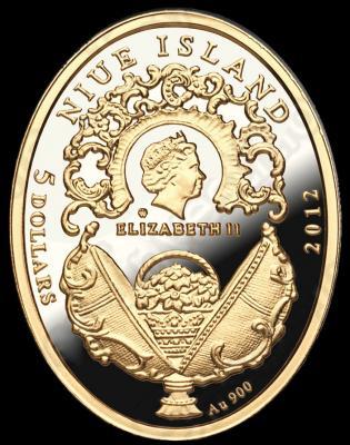 NIUE ISLAND 2012 5$ яйцо Фаберже.JPG
