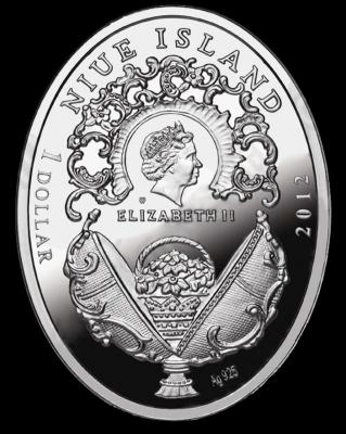 NIUE ISLAND 2012 1$ яйцо Фаберже.JPG