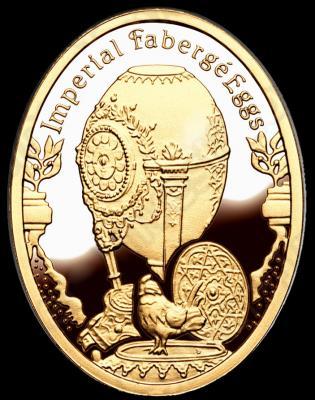NIUE ISLAND 2012 5$ яйцо Фаберже Часы с кукушкой.JPG