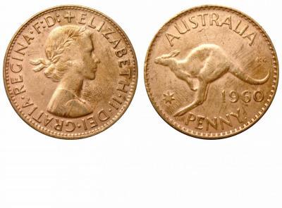 Австралия - 1 пении  1960.jpg