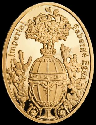 NIUE ISLAND 2012 5$ яйцо Фаберже Букет из лилий.JPG