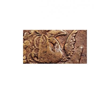 1755 1 Kopek Barocco RARE SPB netted edge Overstrike on 5 kopeks cross coin in XF 2a $300.jpg