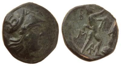 Македонское царство, Антигон II Гонат 283-239 годы до Р.Х., АЕ16.jpg