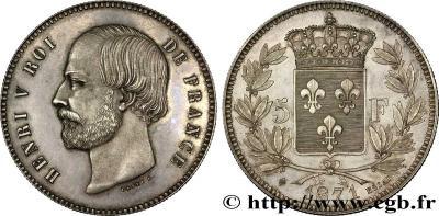 ФРАНЦИЯ 8.АНРИ V граф де Шамбор Essai де 5 франков 1871 .jpg