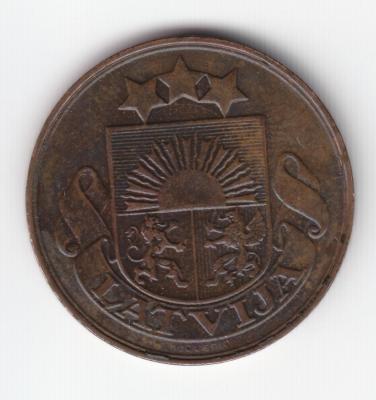 5 сантимов 1922 без подписи Зариньша 2.jpg