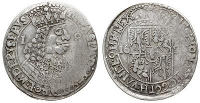 POLSKA - Jan II Kazimierz 1649-1668. ort 1656, Lwów, T. 4, moneta wybita z charakterystycznymi wadami menniczymi, rzadka i ładnie zachowana - GRADE III - копия.jpg