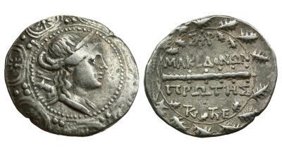 Македония под римским протекторатом, 168-158  -  149 годы до Р.Х., тетрадрахма..jpg