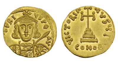 Византийская Империя, Тиберий III, 698-705 годы, солид.jpg